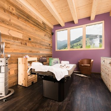 Beauty treatment with mountain view