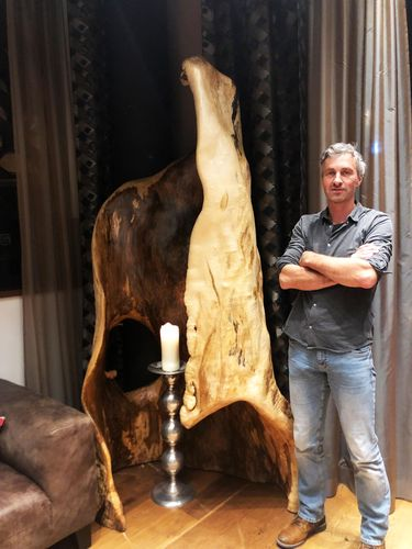Wood art exhibition in Leogang country of Salzburg