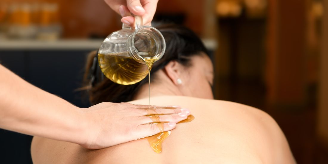 Herbal oil massage