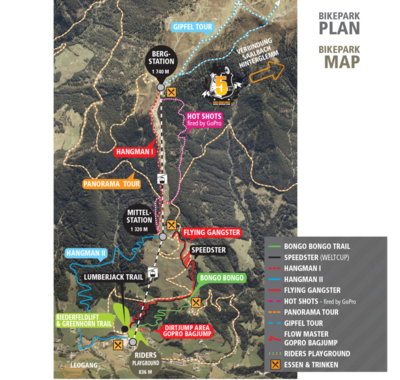 Bike map Leogang