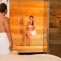 Sauna in der Suite