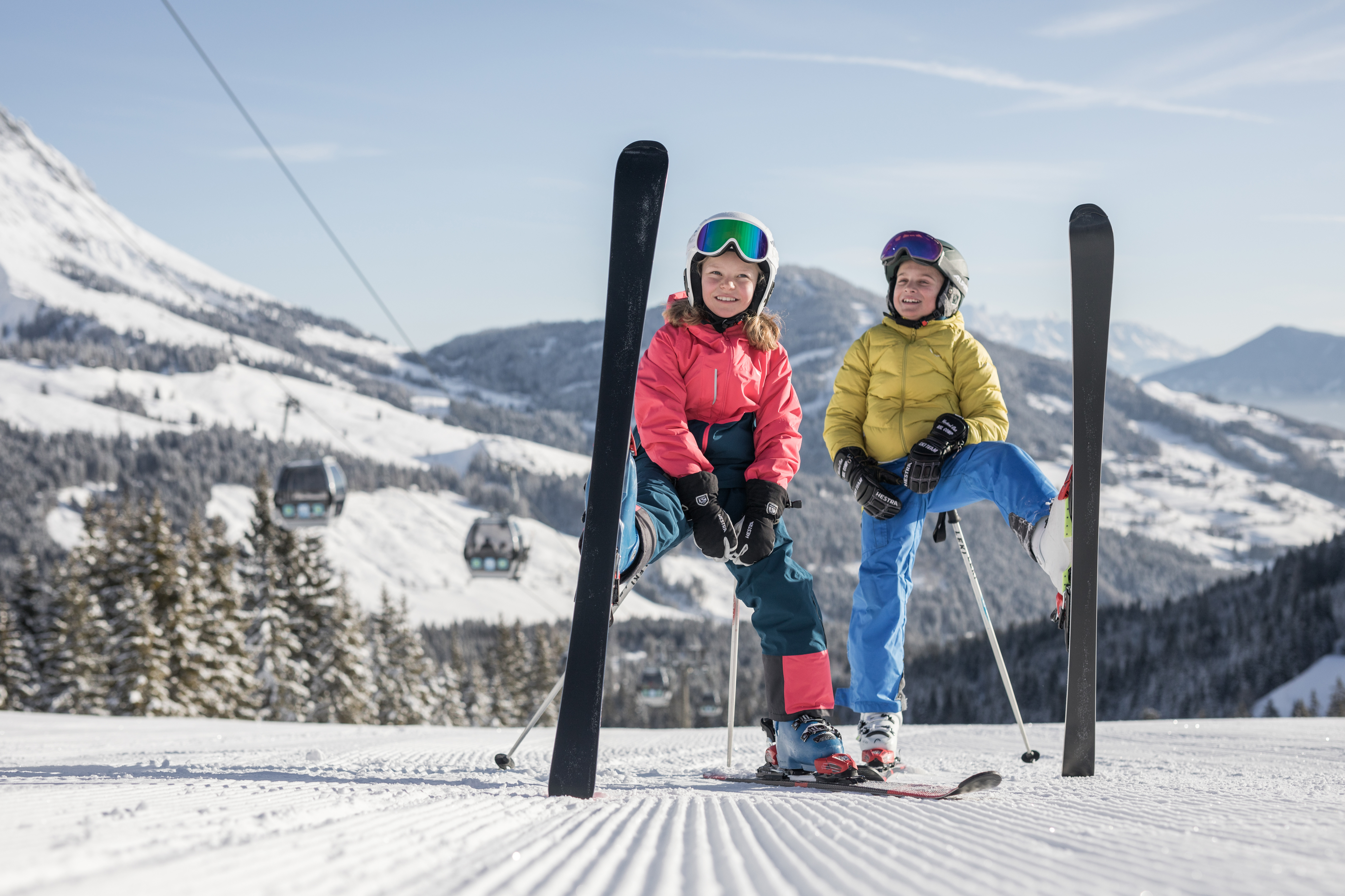 Children´s ski lessons in the country of Salzburg